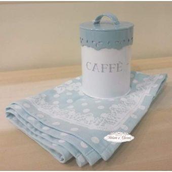Barattolo CAFFE'  BL Shabby