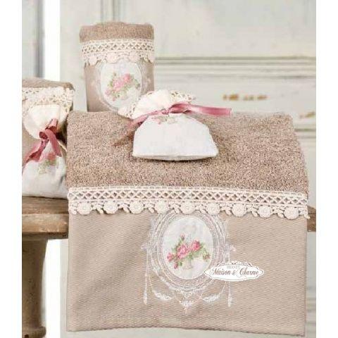 2 asciugamani ecru shabby biancheria bagno asciugamani for Accessori moderni per la casa