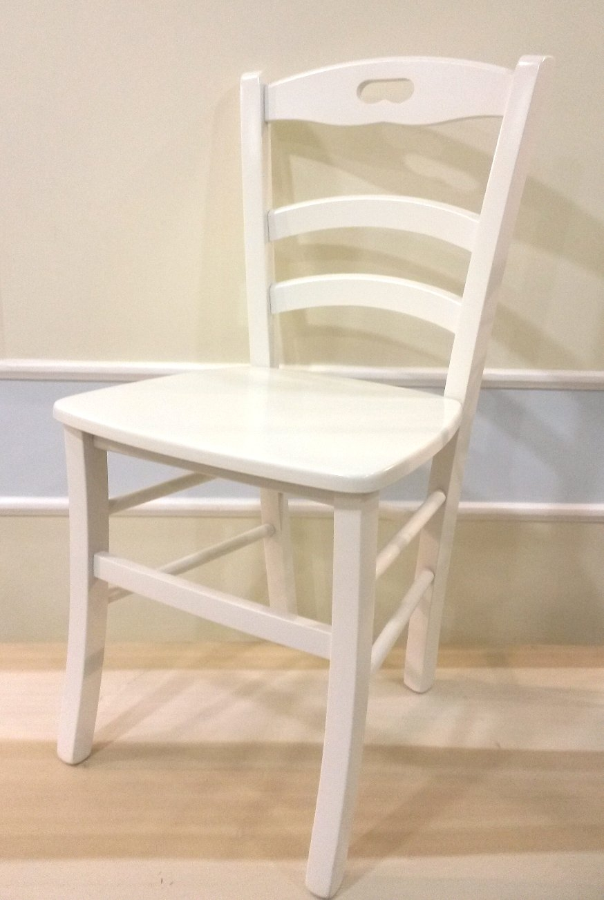 Sedia roma 1 shabby chic sedie for Sedie shabby chic usate