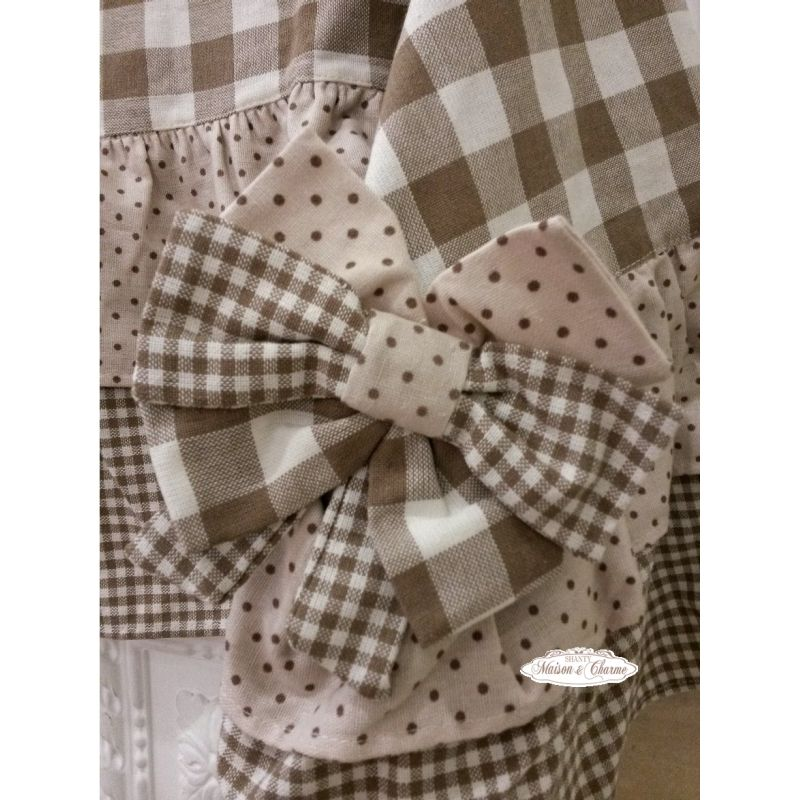 Runner fiocchi marroni country biancheria cucina for Cuscini shabby chic on line