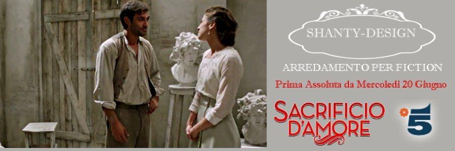 Arredamento TV Cinema Fiction SACRIFICIO D\'AMORE CANALE 5
