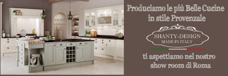 Centro Cucine Provenzali SHANTY DESIGN ROMA produzione e vendita cucine in legno stile provenzale cottage online