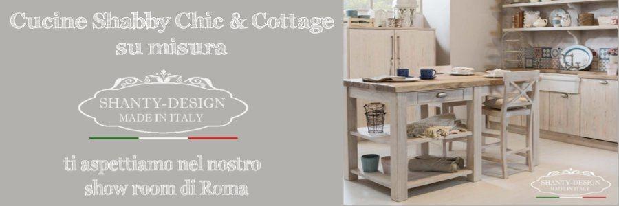 Centro Cucine Shabby Chic Cottage SHANTY DESIGN ROMA produzione vendita cucine su misura shabby country chic