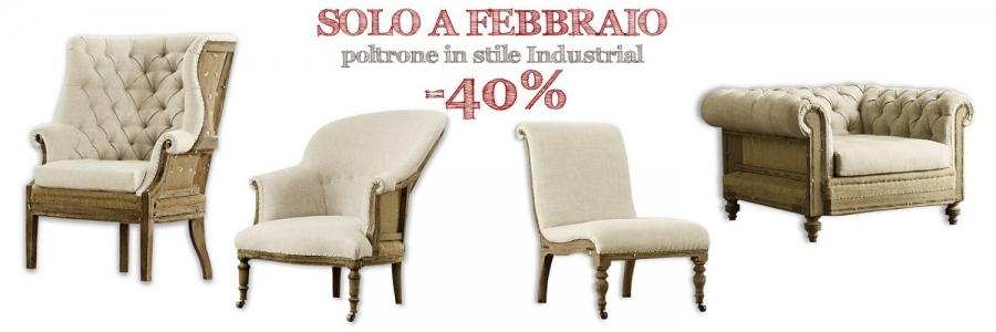 PROMO SCONTO - 40% POLTRONE VINTAGE