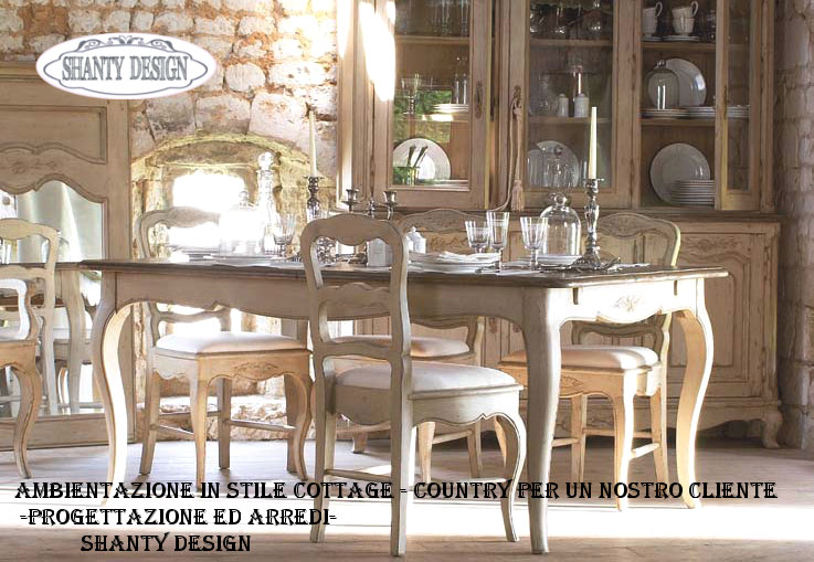 Arredamento e mobili in stile country shanty design for 2 piani di casa in stile cottage