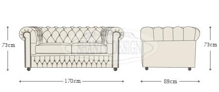 Divano chesterfield in pelle vintage roma blu divani e - Misure divano al ...